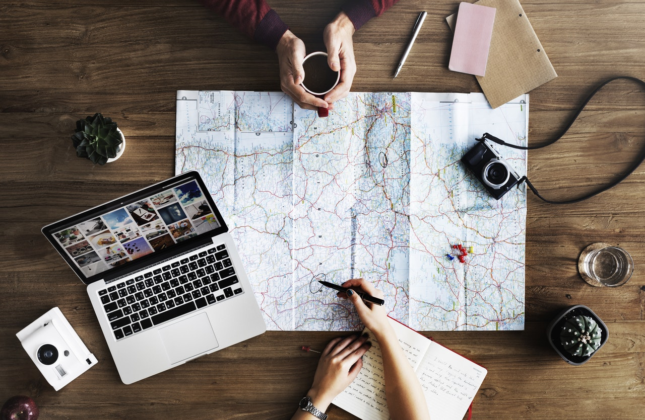 map travel plans